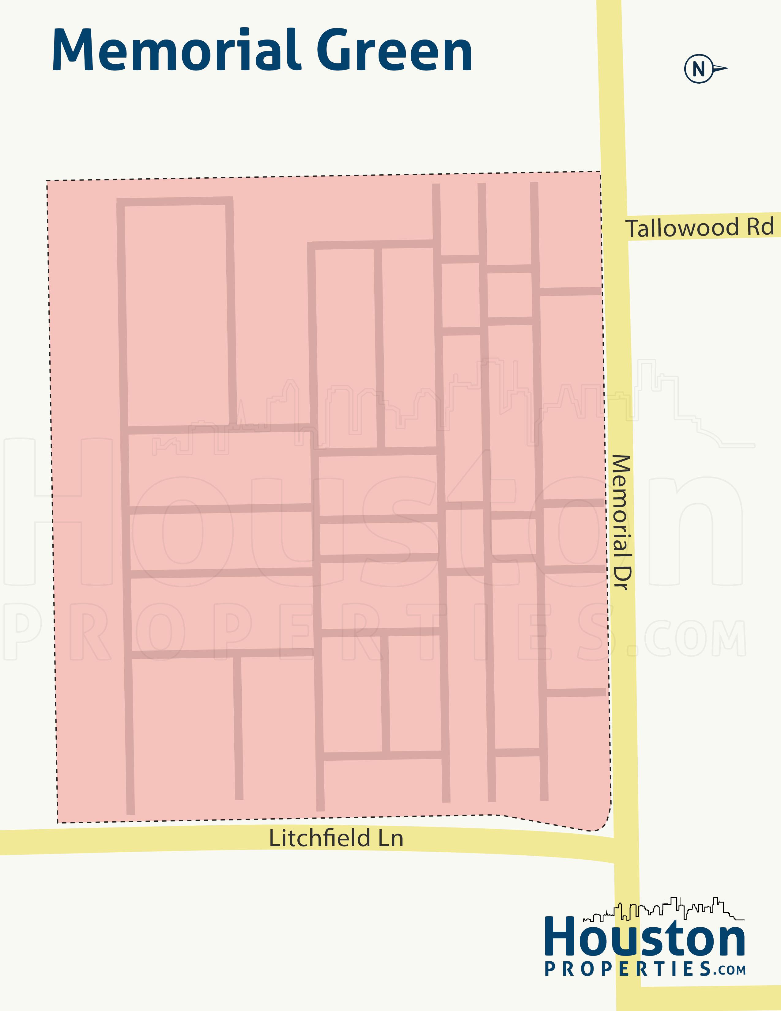 Memorial Green Houston Neighborhood Map