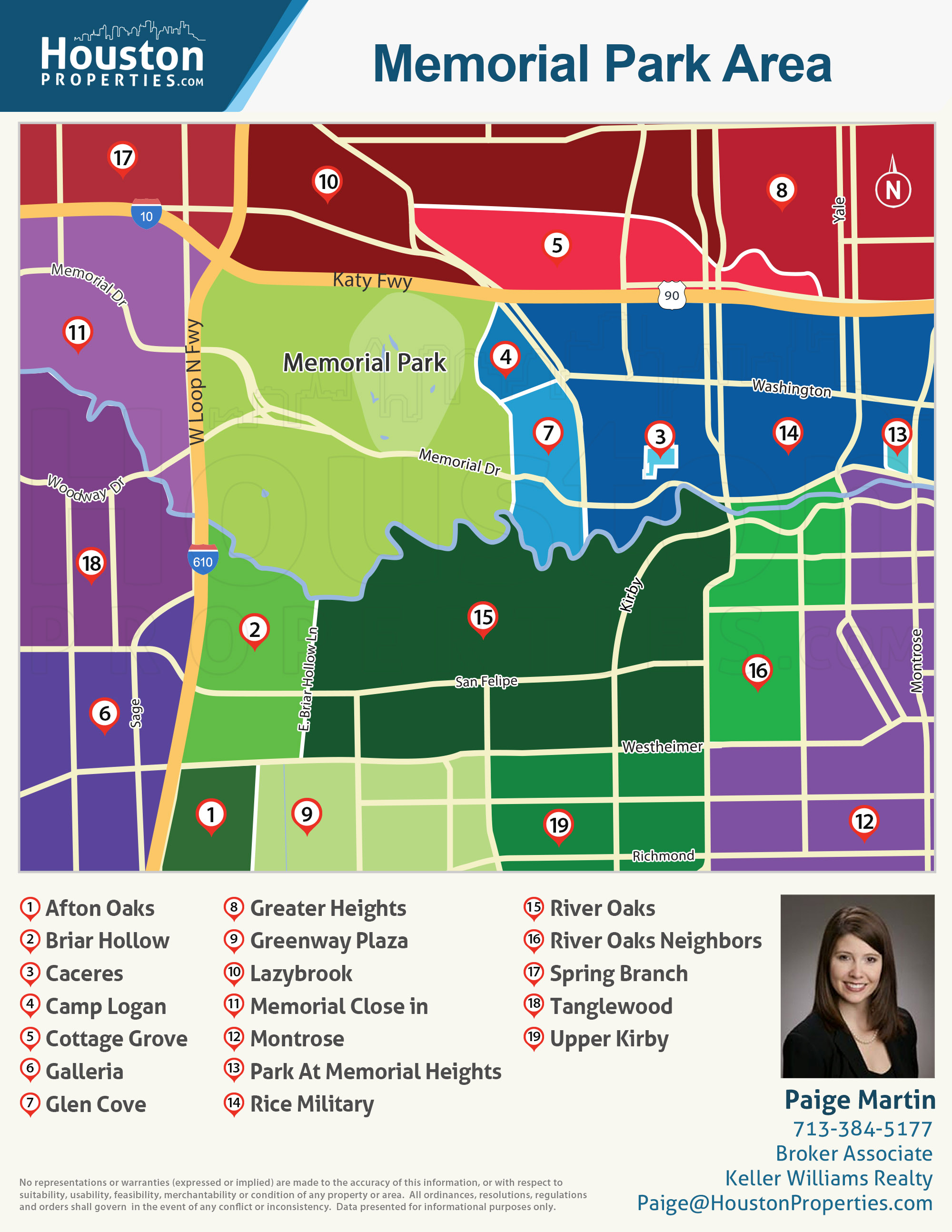 Memorial Park neighborhood map