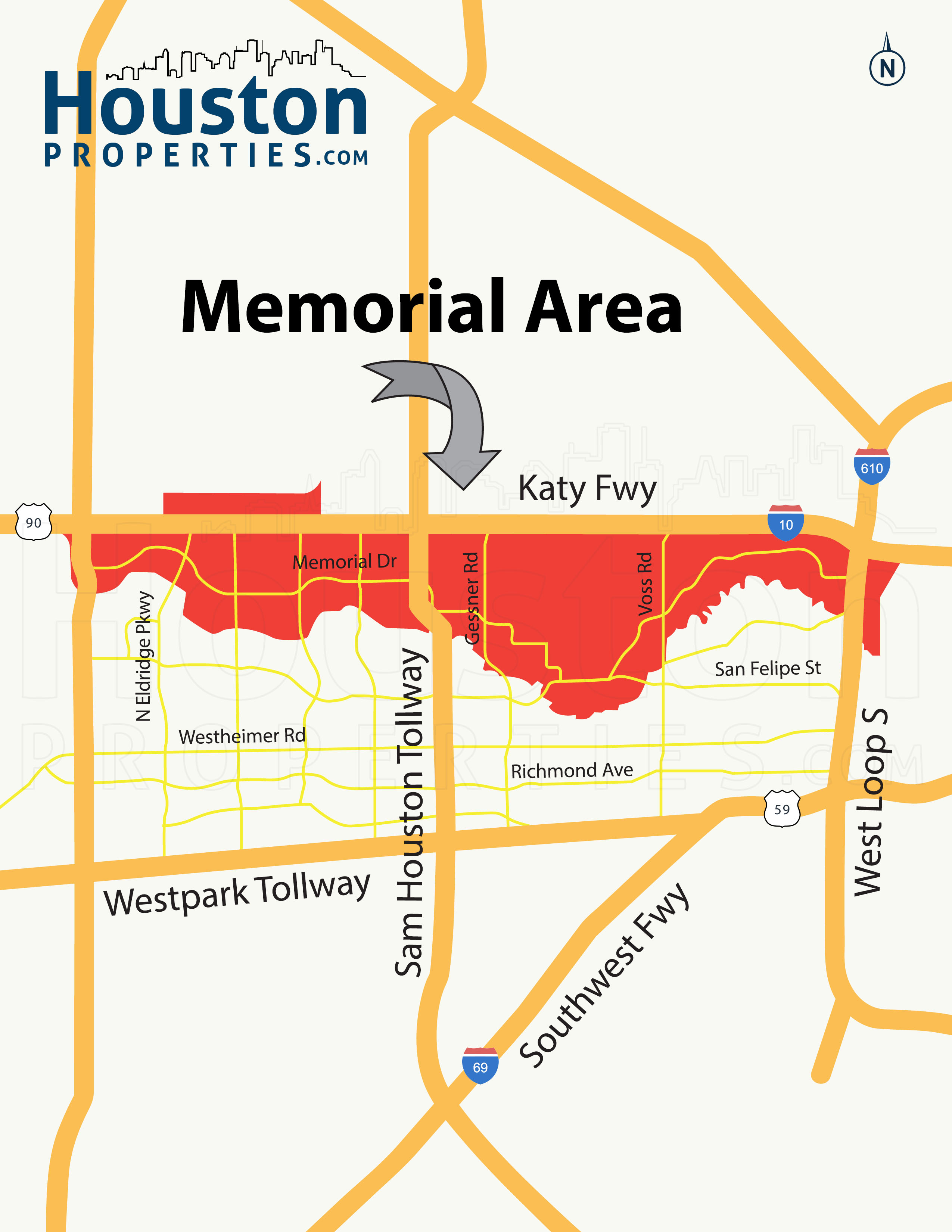 memorial houston map