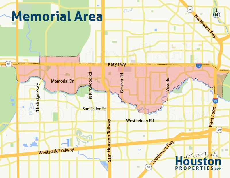 Memorial TX Area Map