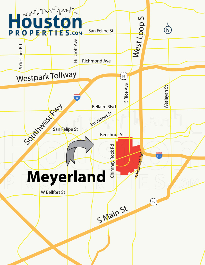 Meyerland Houston map