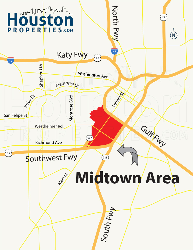 Midtown TX map