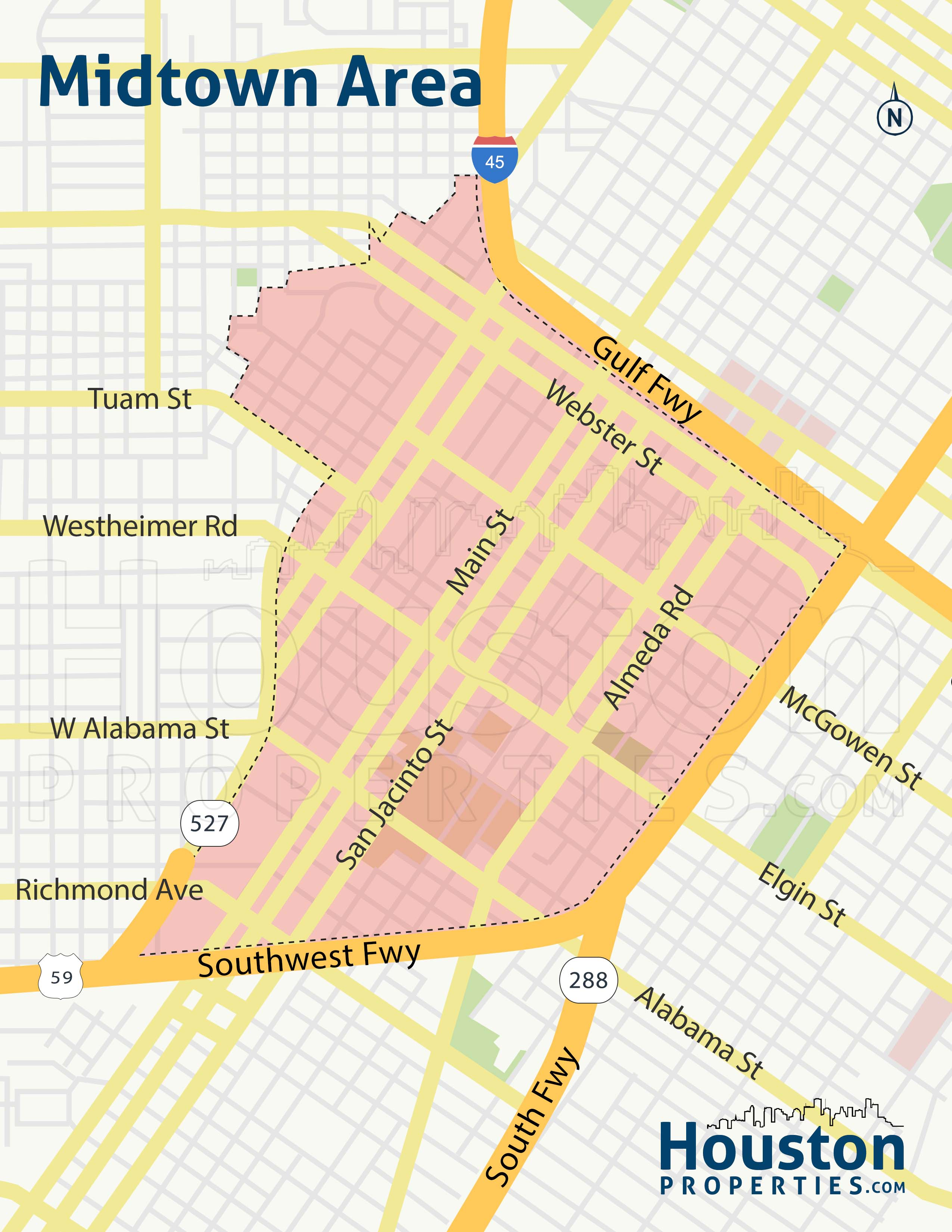 Midtown Houston Neighborhood Map