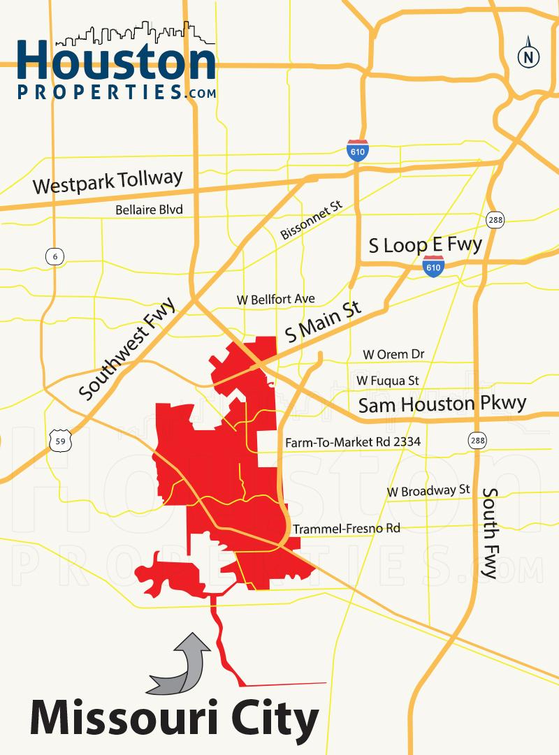Missouri City TX Map