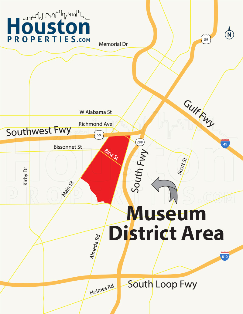 Museum District map