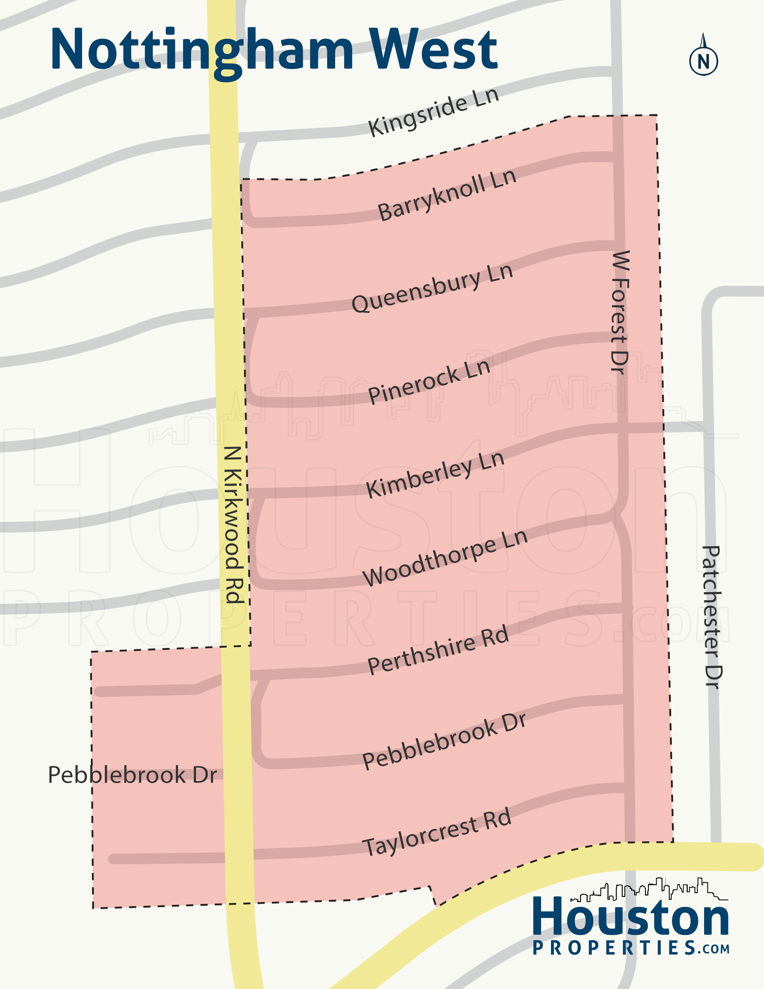 Nottingham West neighborhood map
