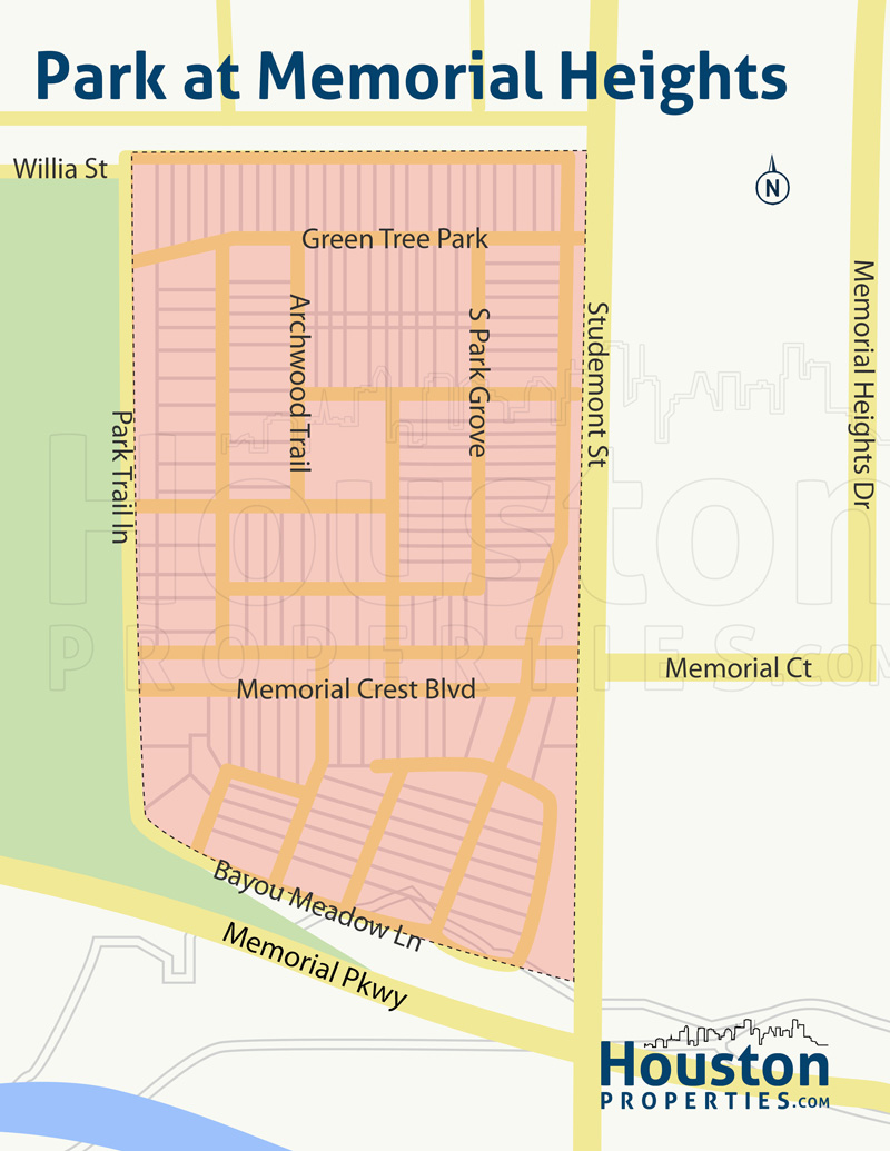 the park at memorial heights neighborhood map
