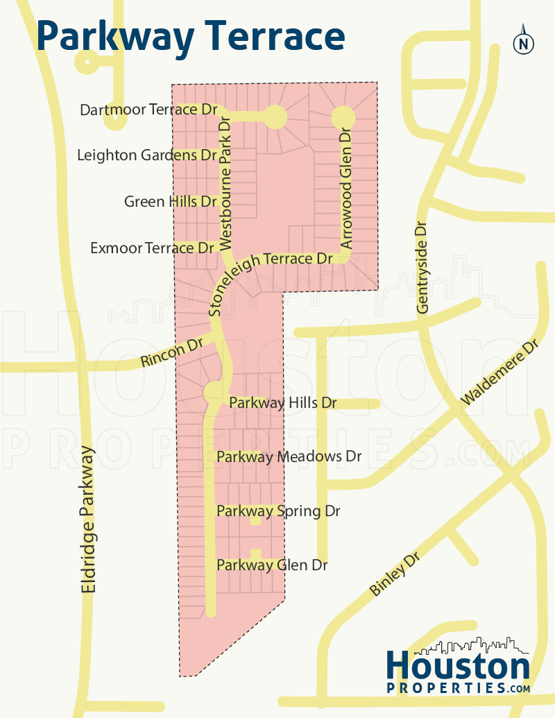 Parkway Terrace Houston Map