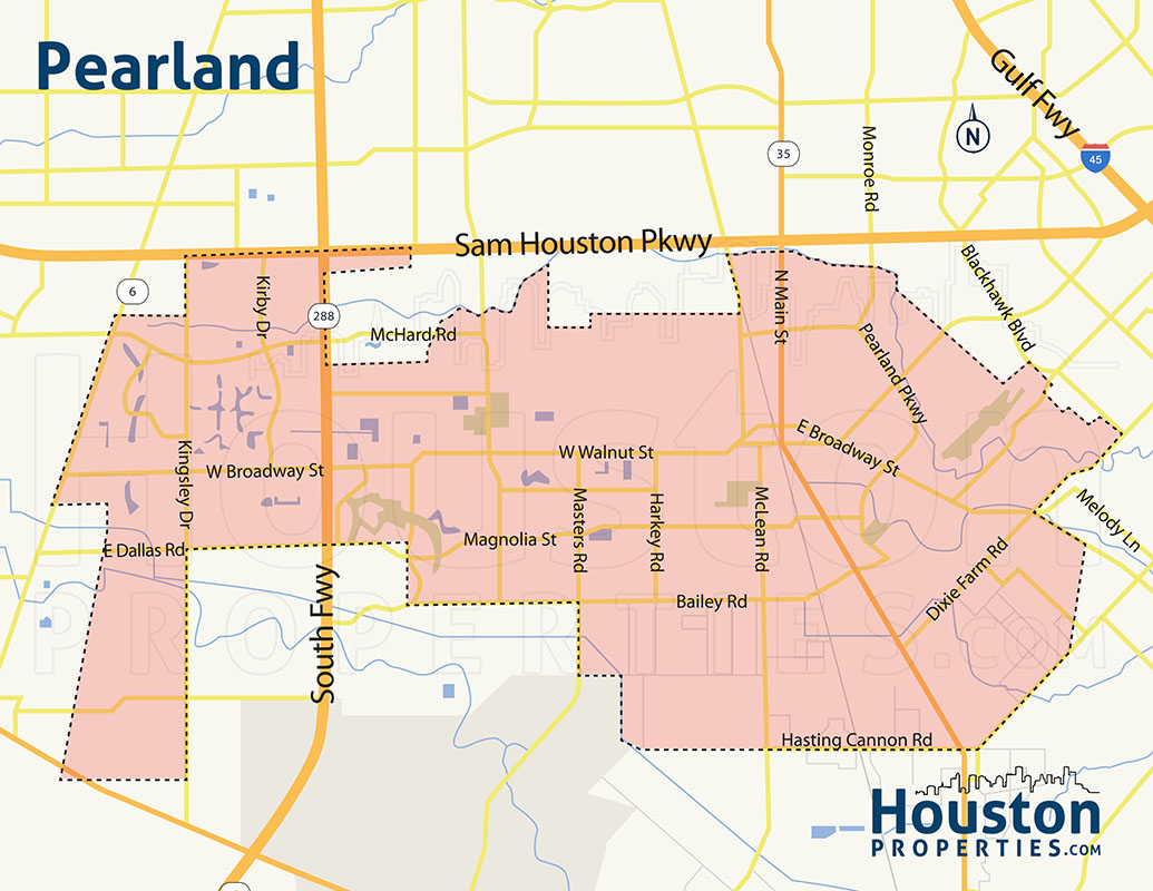 Pearland neighborhood map