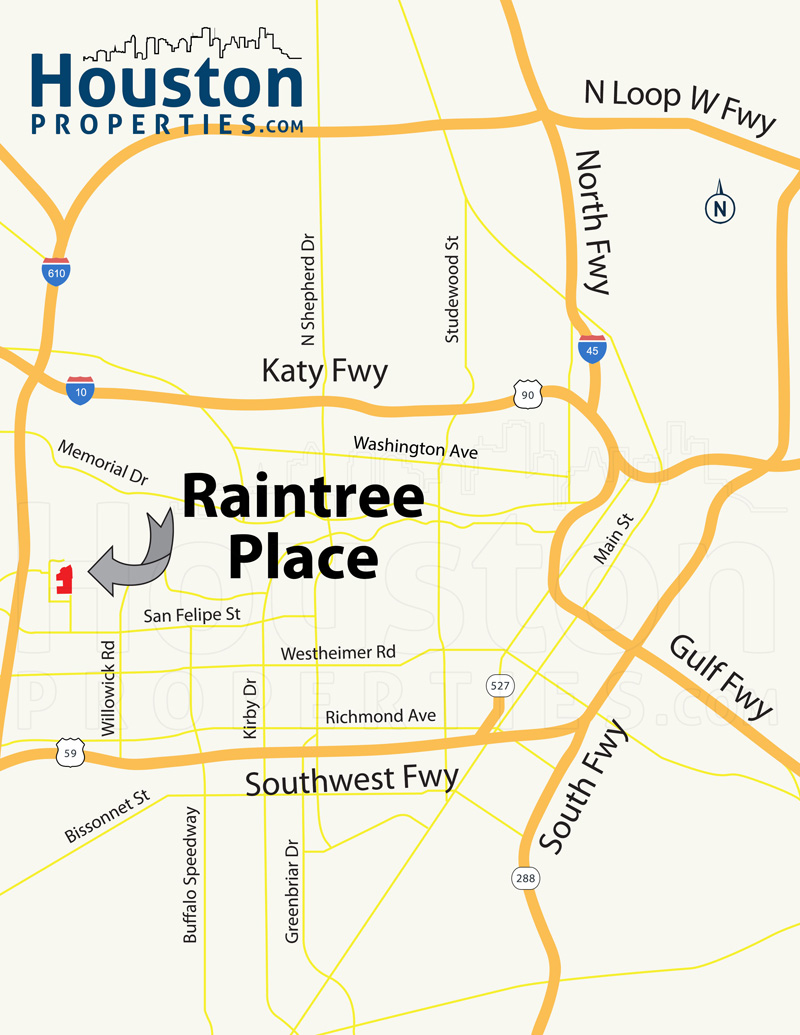 raintree place houston map