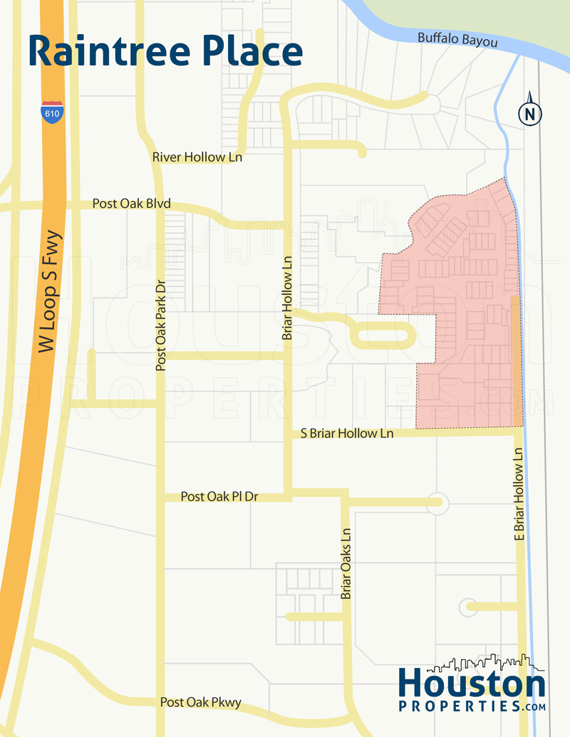 Raintree Place Neighborhood Map
