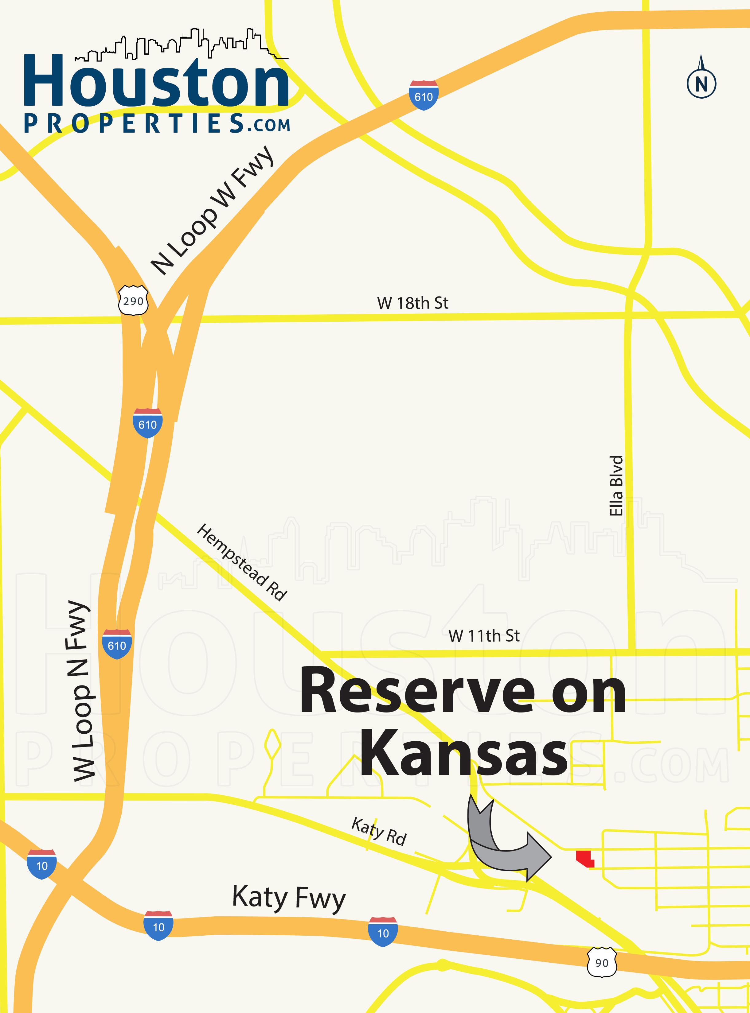 Reserve on Kansas Houston map