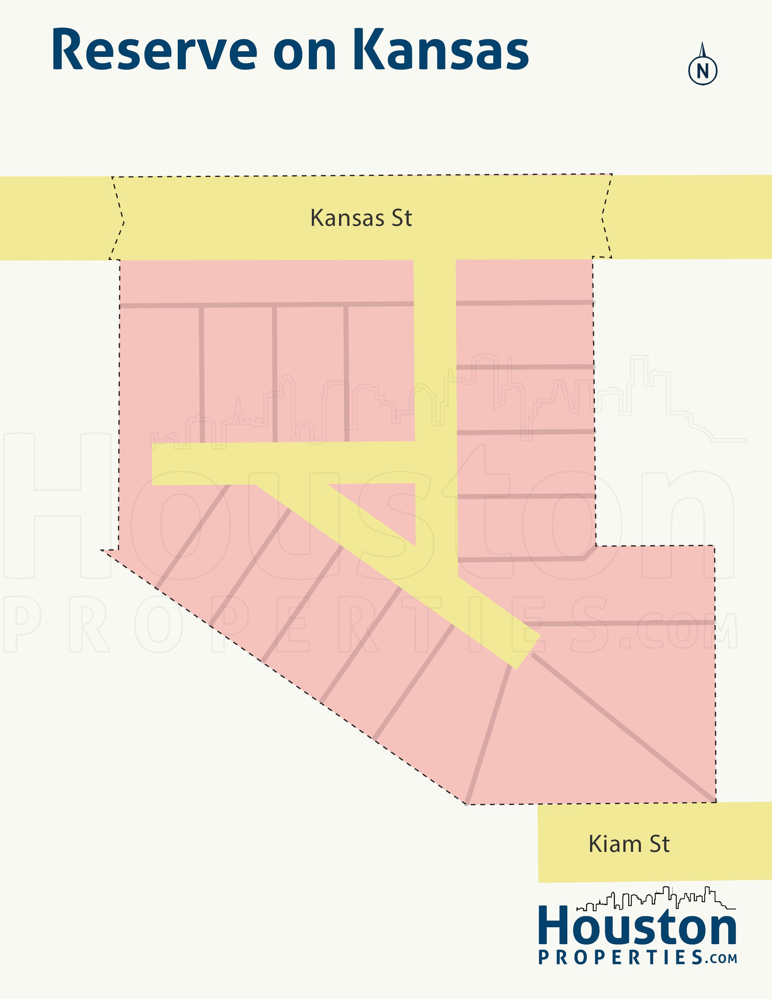 Reserve on Kansas neighborhood map