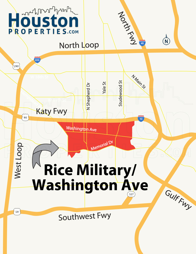 Rice Military Houston Map