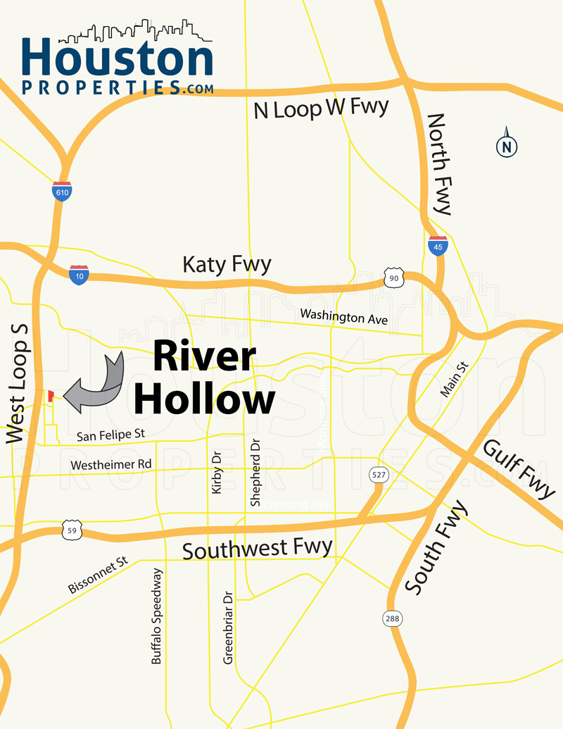 River Hollow Houston Map