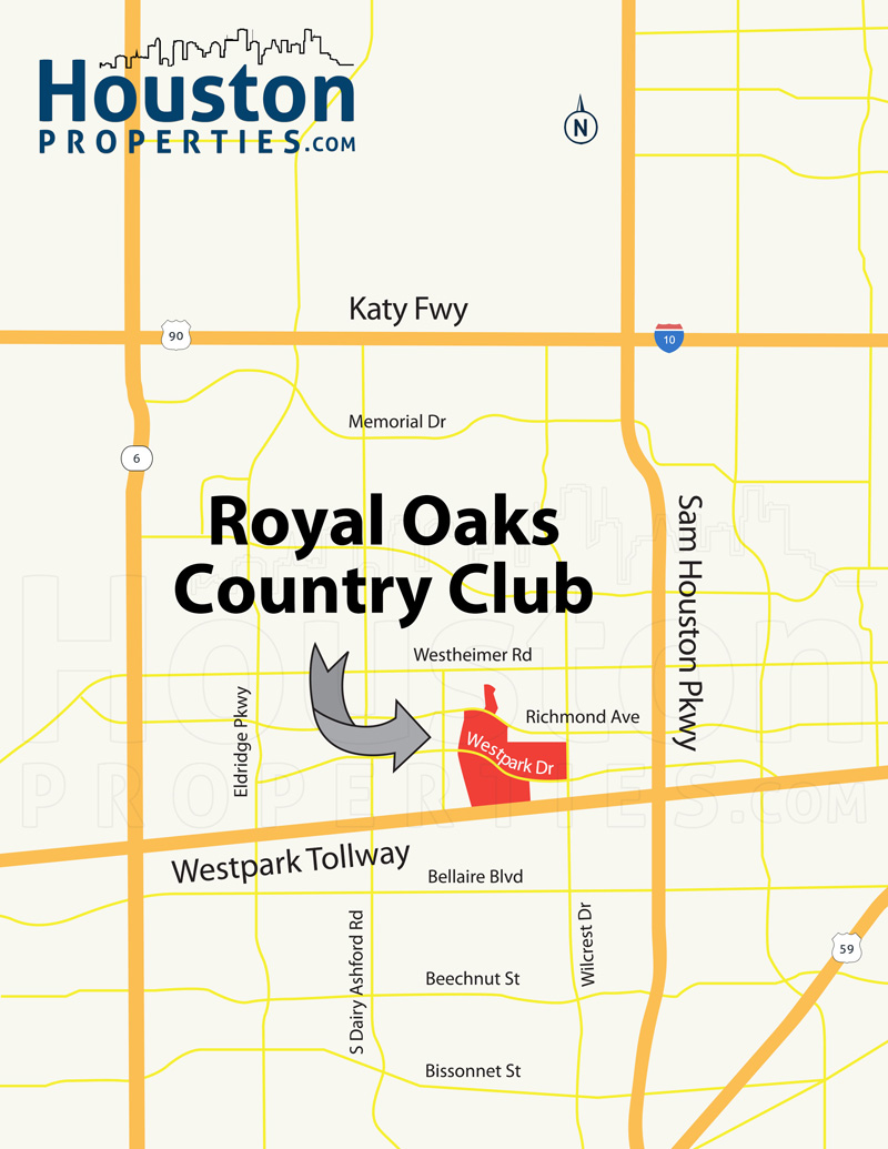 royal oaks country club Location