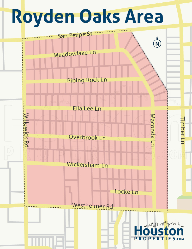 Royden Oaks Neighborhood Map