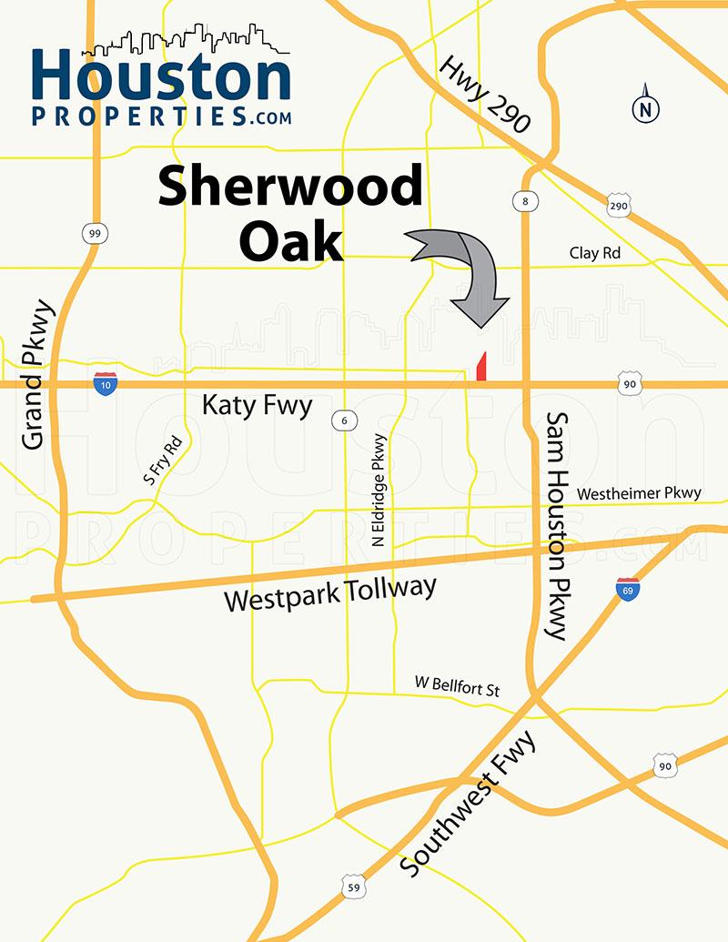 Sherwood Oaks Houston map