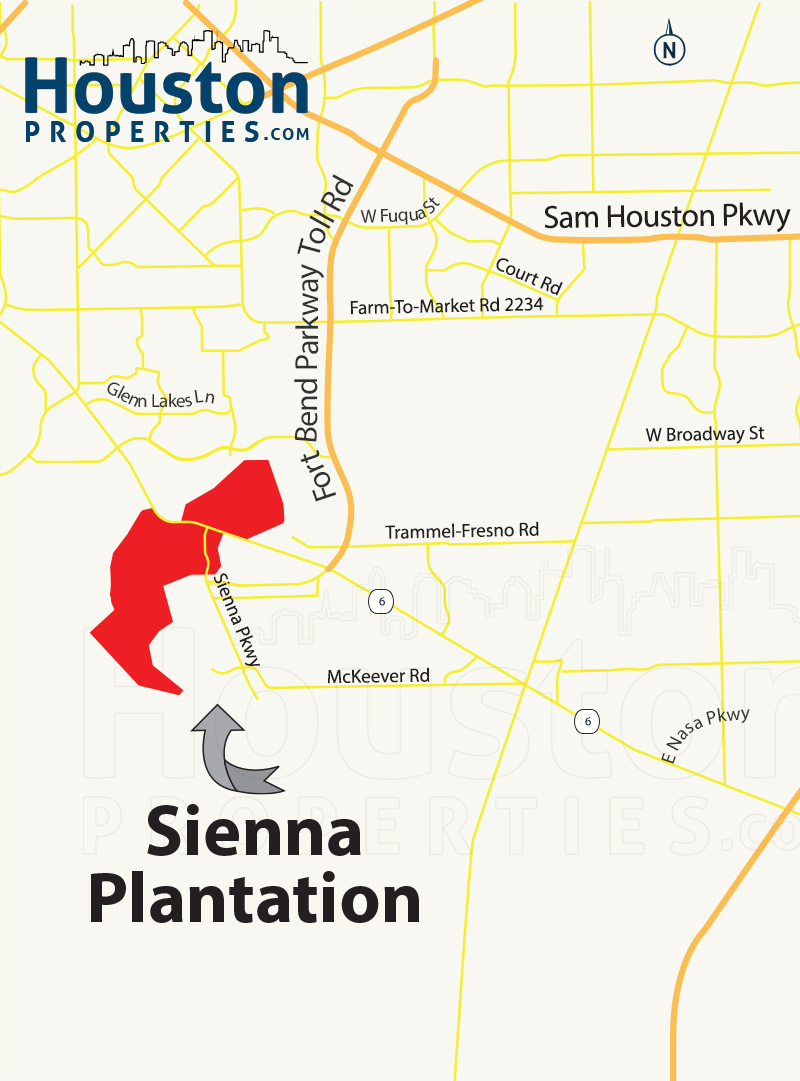sienna plantation houston map
