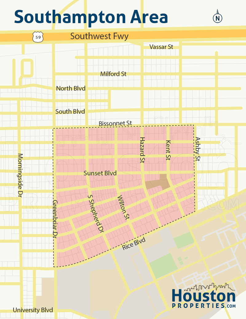 Southampton Neighborhood Map
