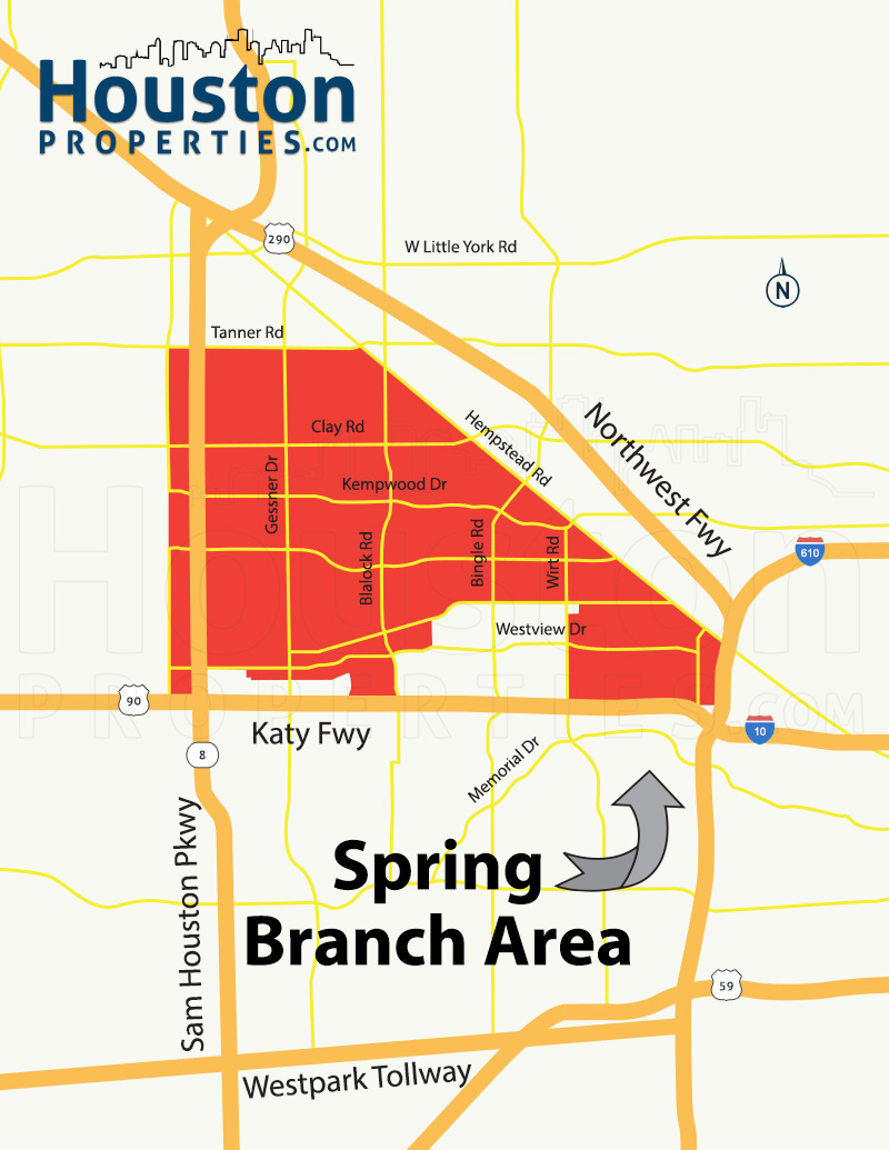 Spring Branch Houston Map