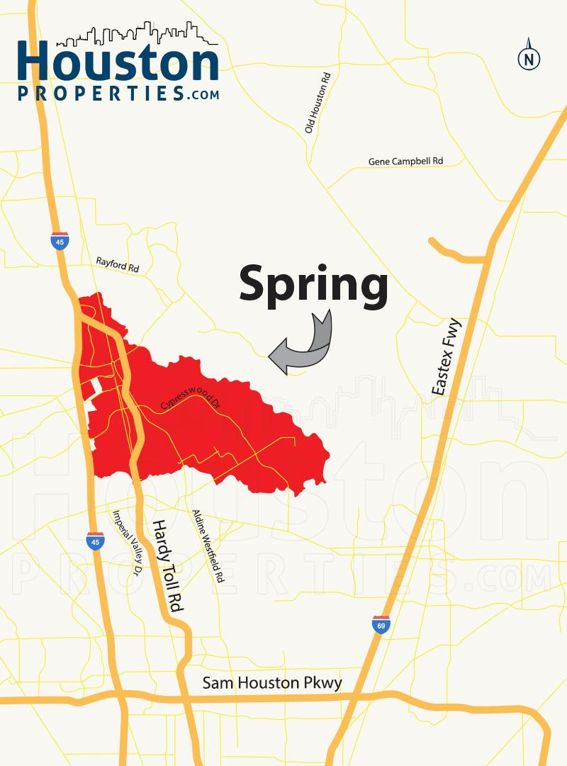 Spring TX map