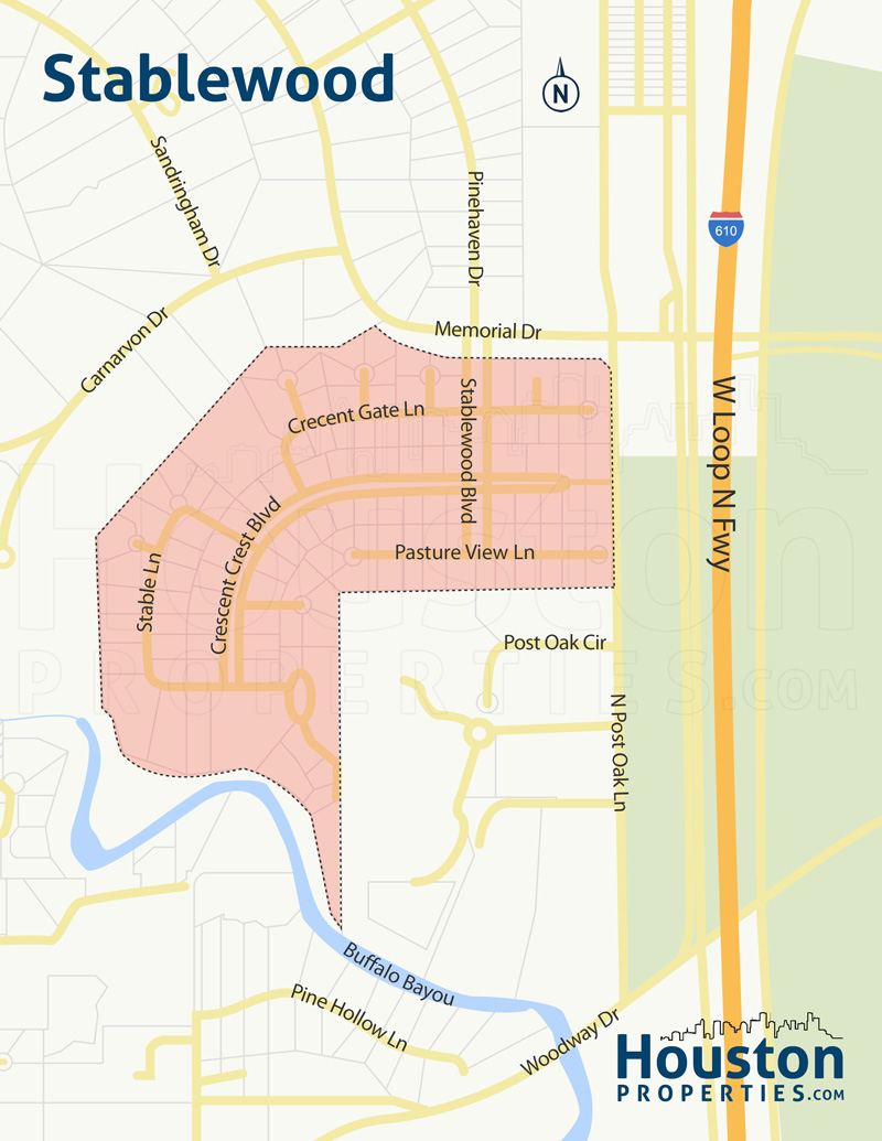 stablewood houston map