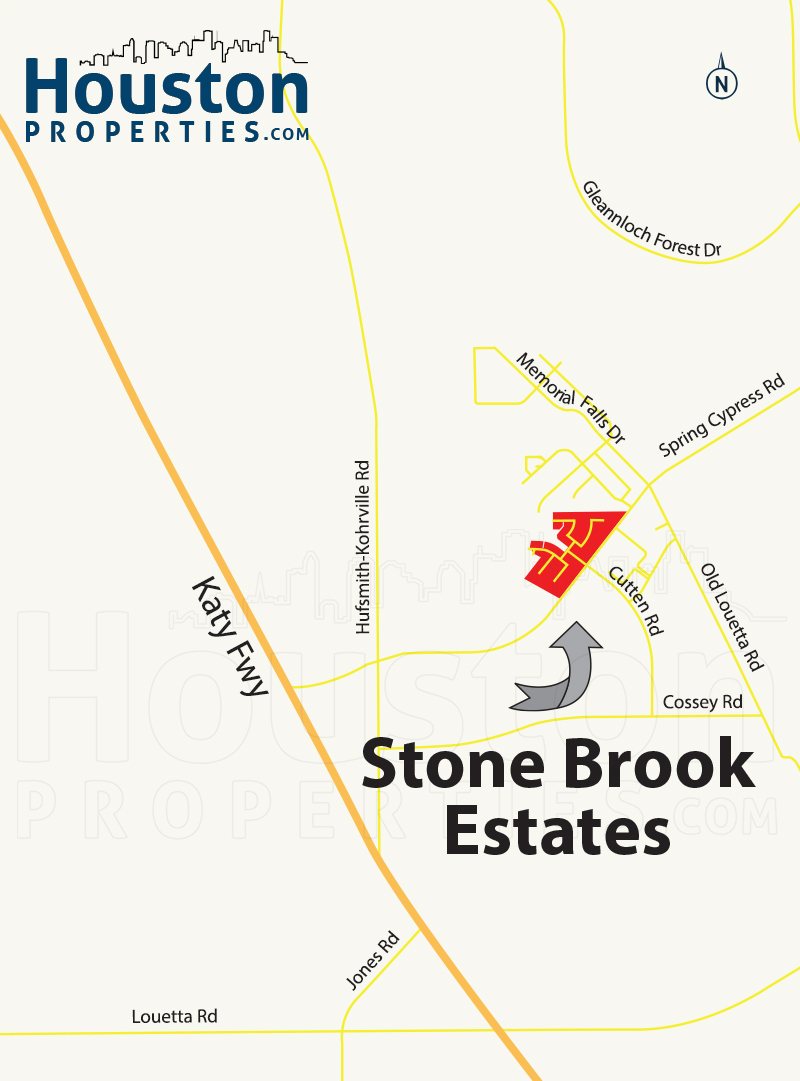 Stonebrook Estates houston map