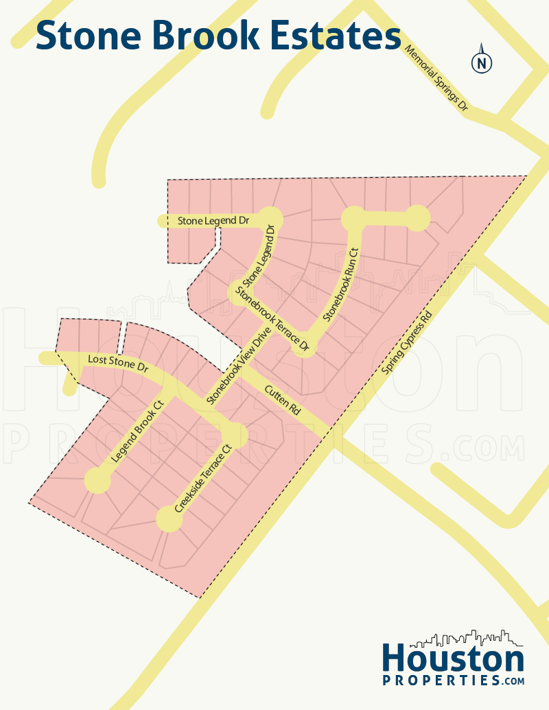 Stonebrook Estates neighborhood map