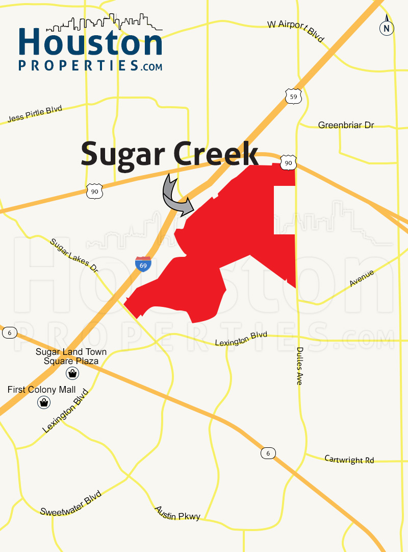 Sugar Creek houston map