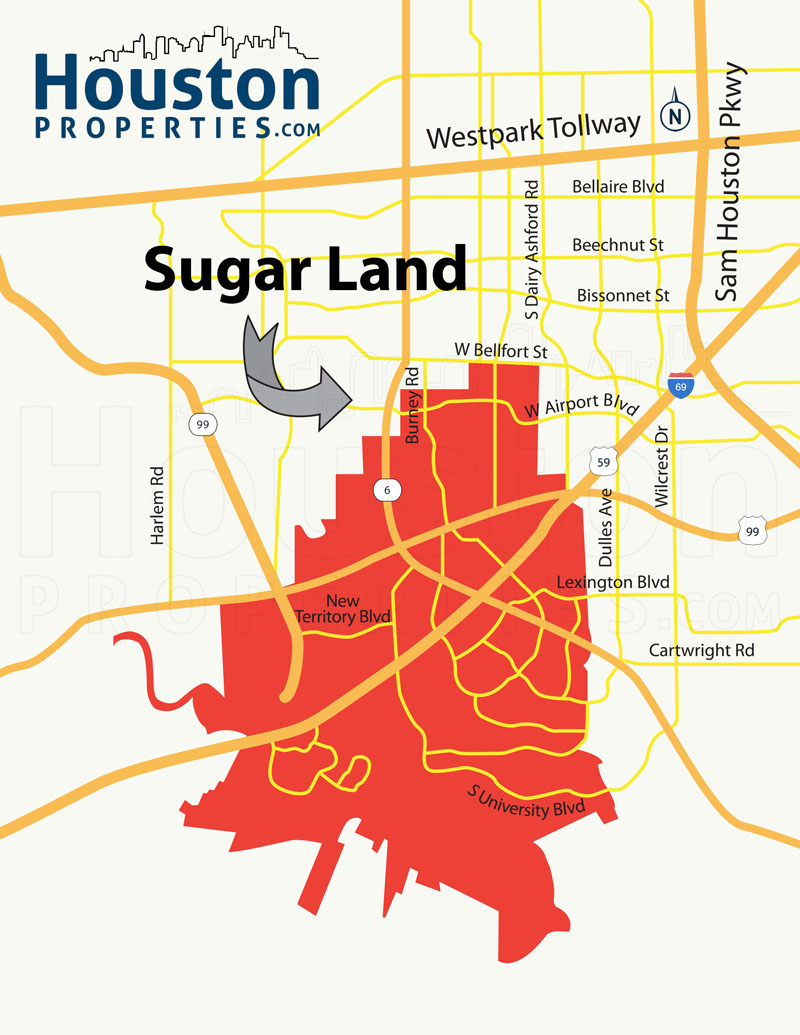 Sugar Land Map Texas