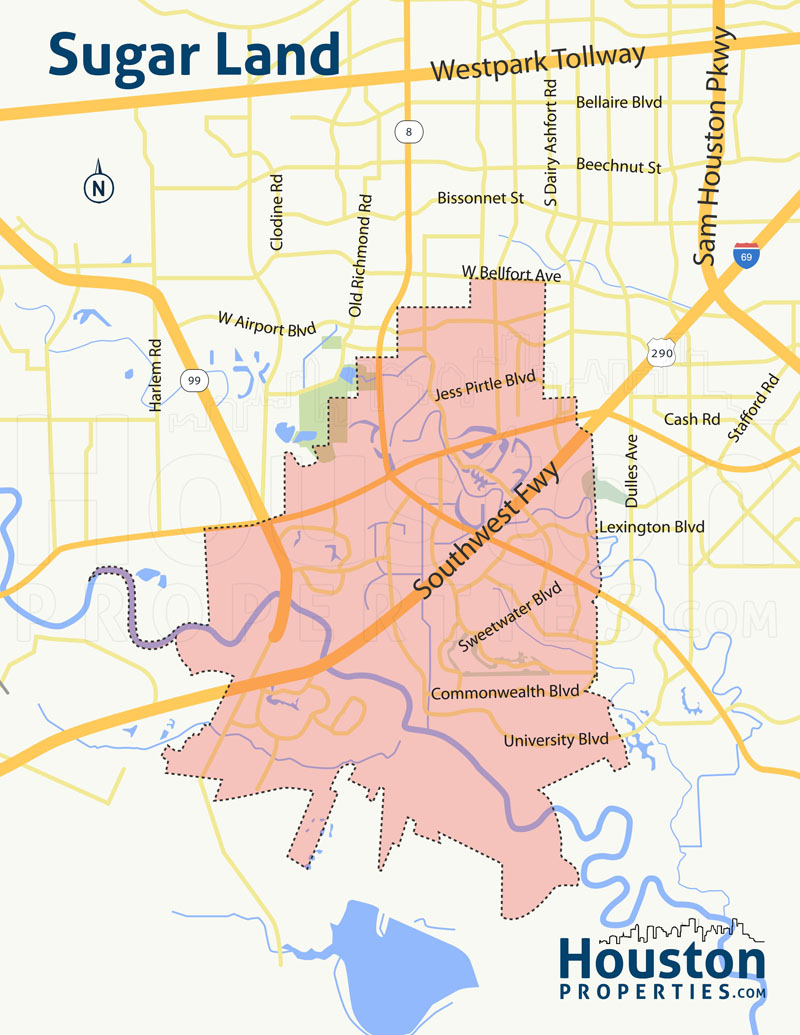 Sugar Land Houston Map
