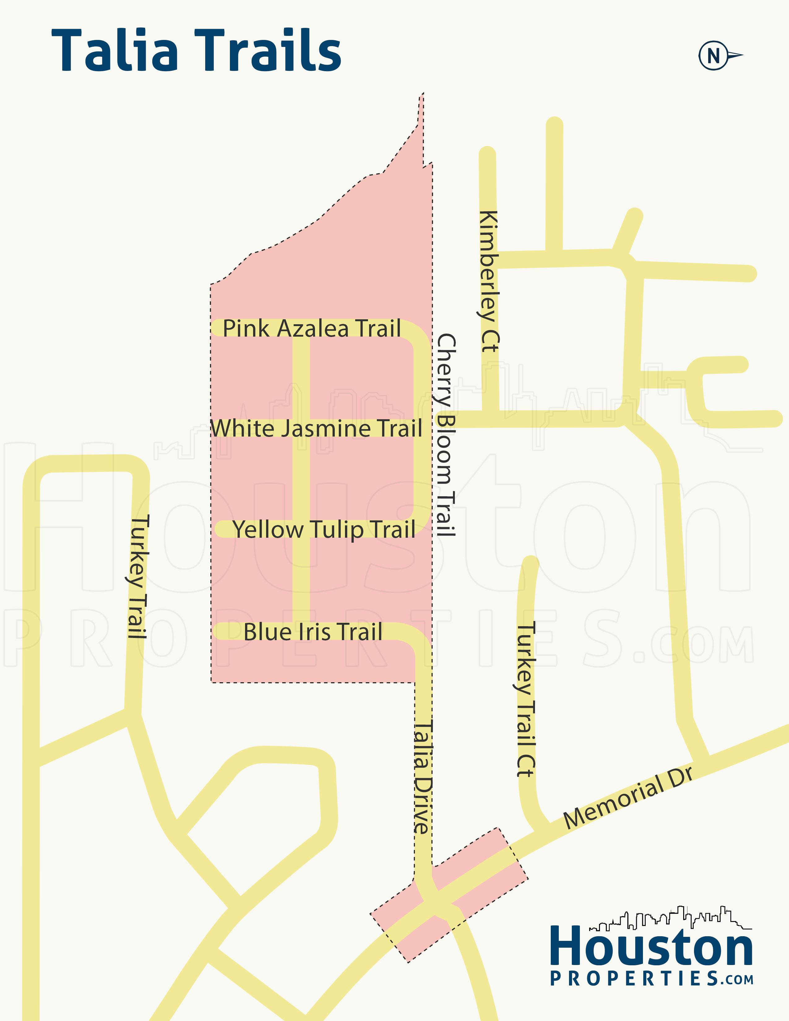 Talia Trails Houston Map