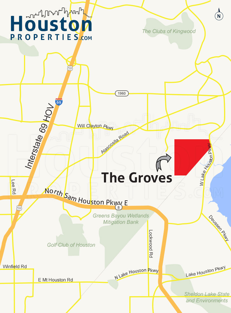 The Groves houston map