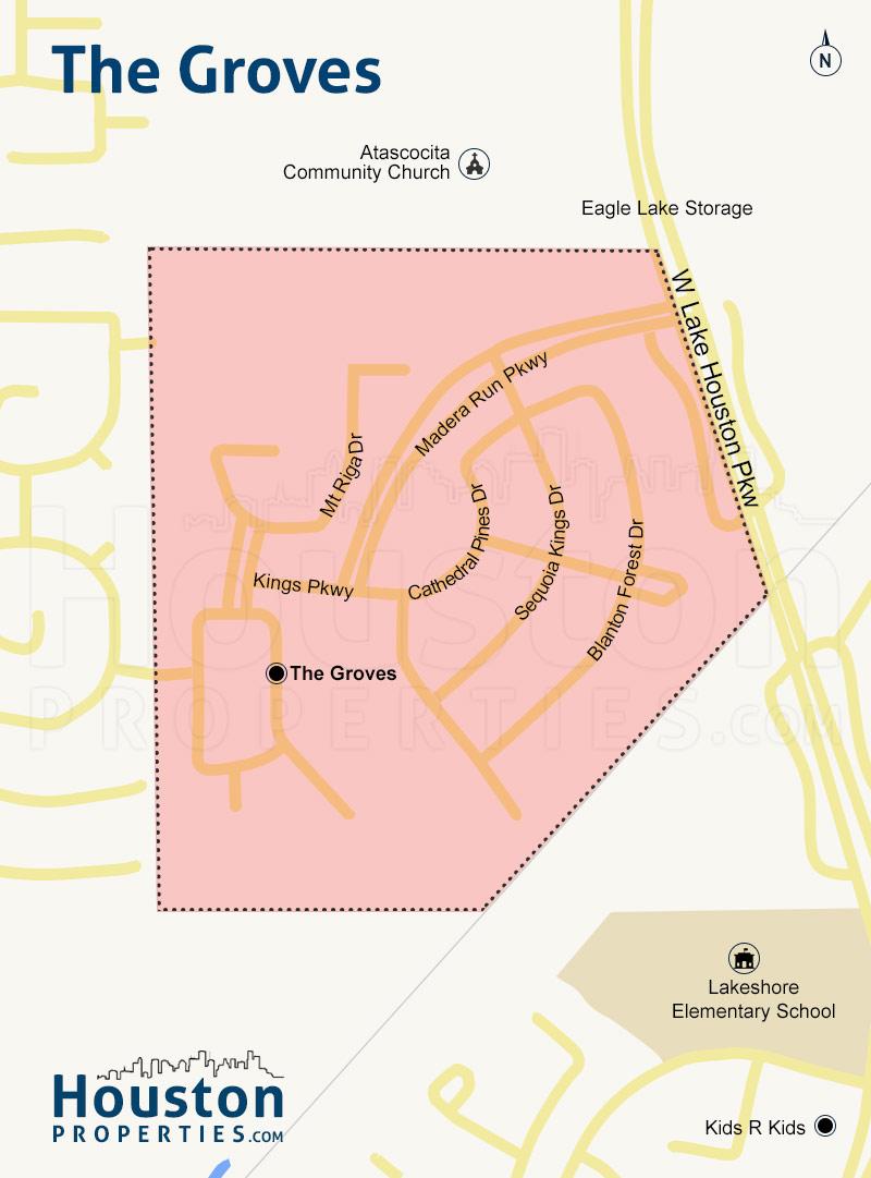 The Groves neighborhood map
