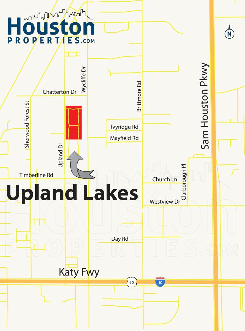 Upland Lakes houston map