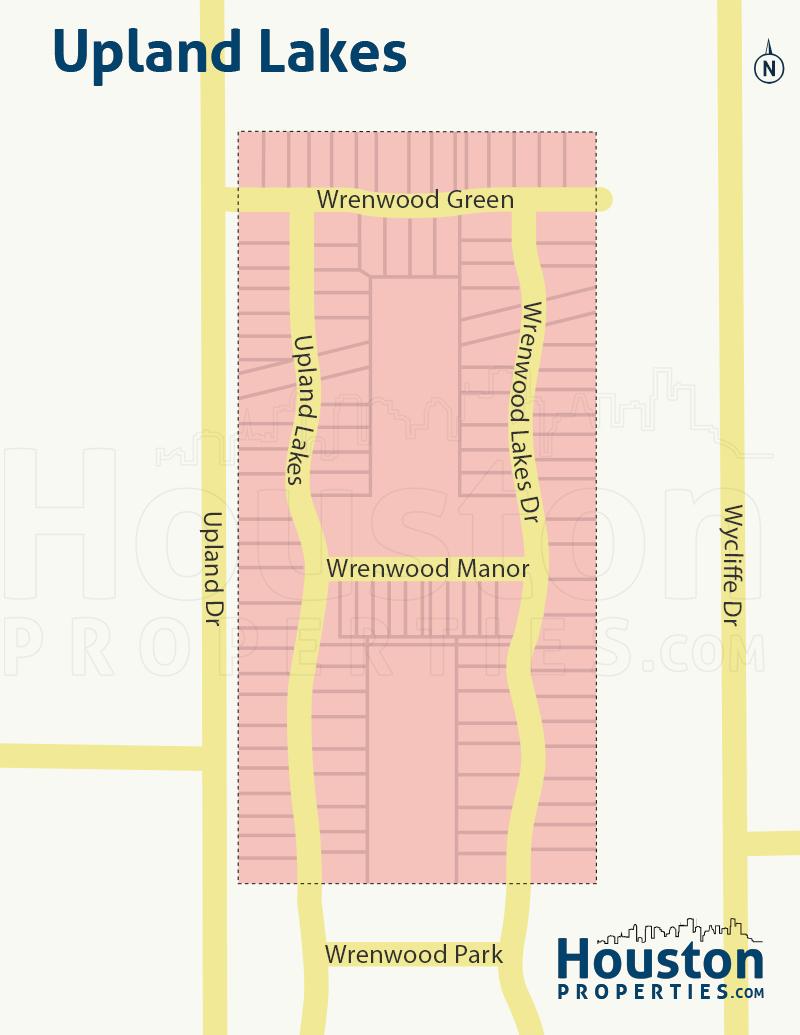 Upland Lakes neighborhood map