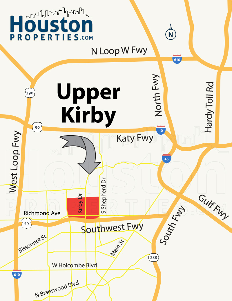 Upper Kirby Houston Homes For Sale & Neighborhood Guide on kirby st houston map, kirby texas, texas panhandle map, san antonio map, lake kirby abilene tx map, texas street map,