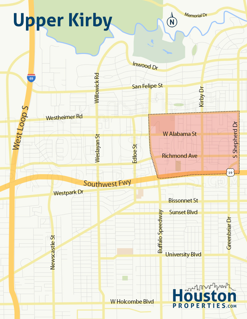 Upper Kirby Houston Neighborhood Map