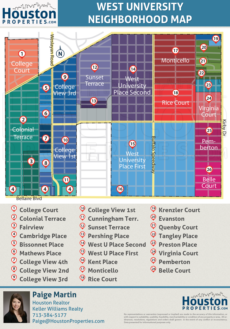 Bissonnet Place Houston map