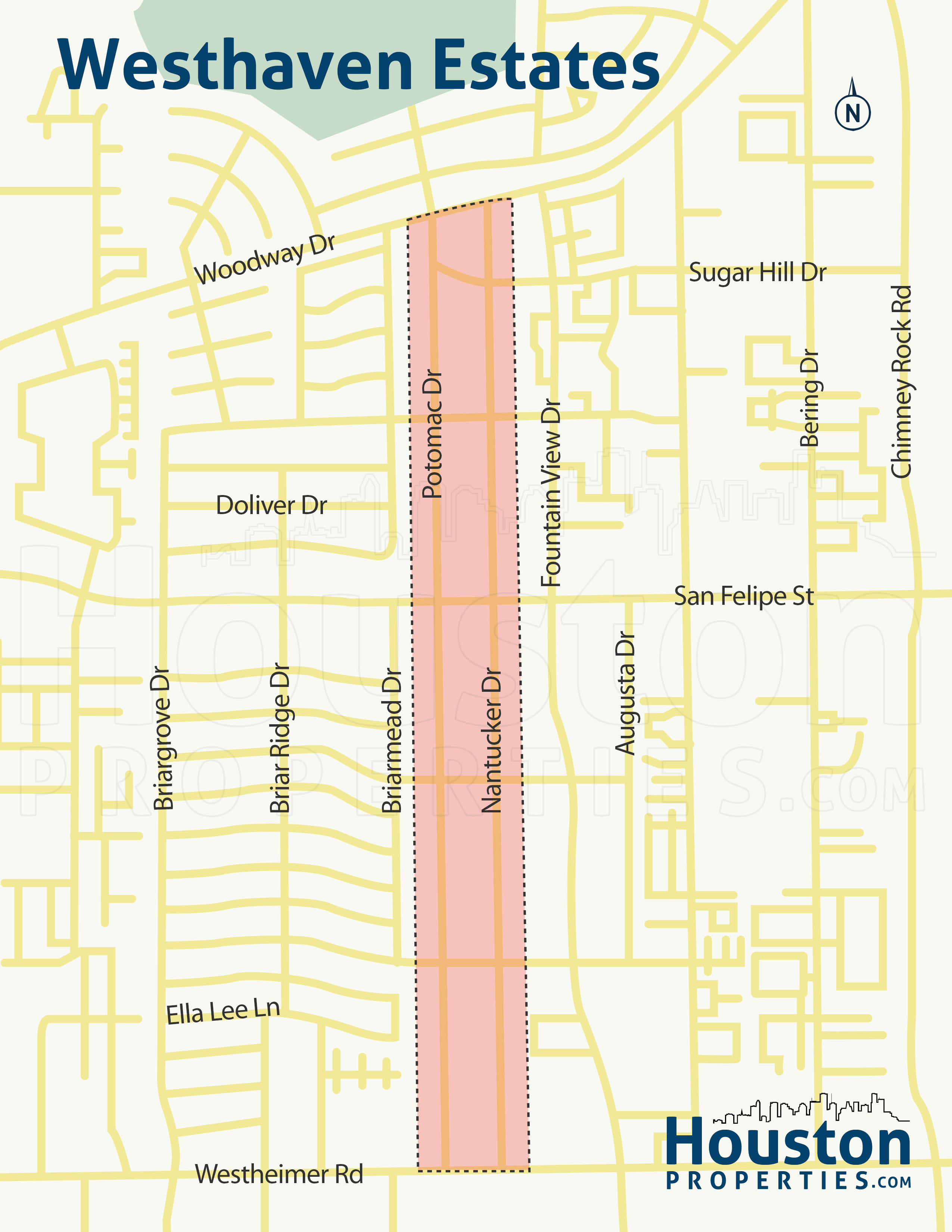 Westhaven Estates Houston Map
