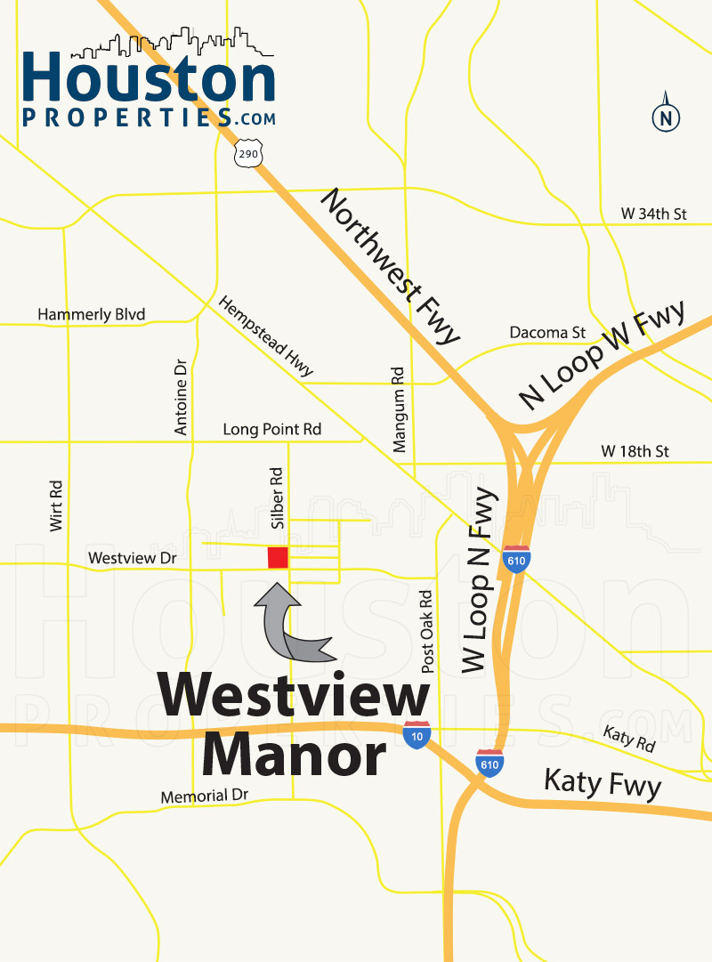 Westview Manor Houston map