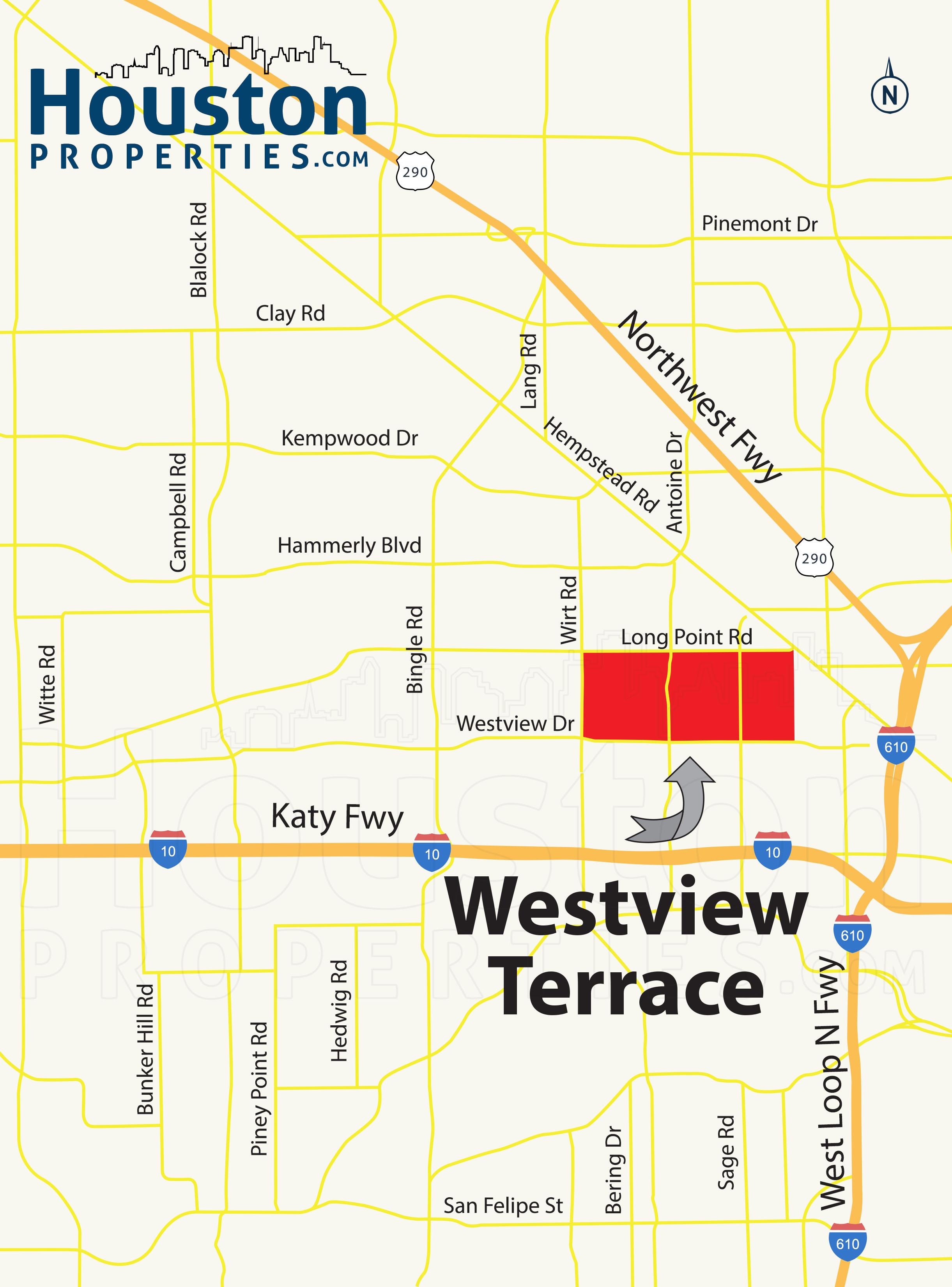 Westview Terrace Houston map