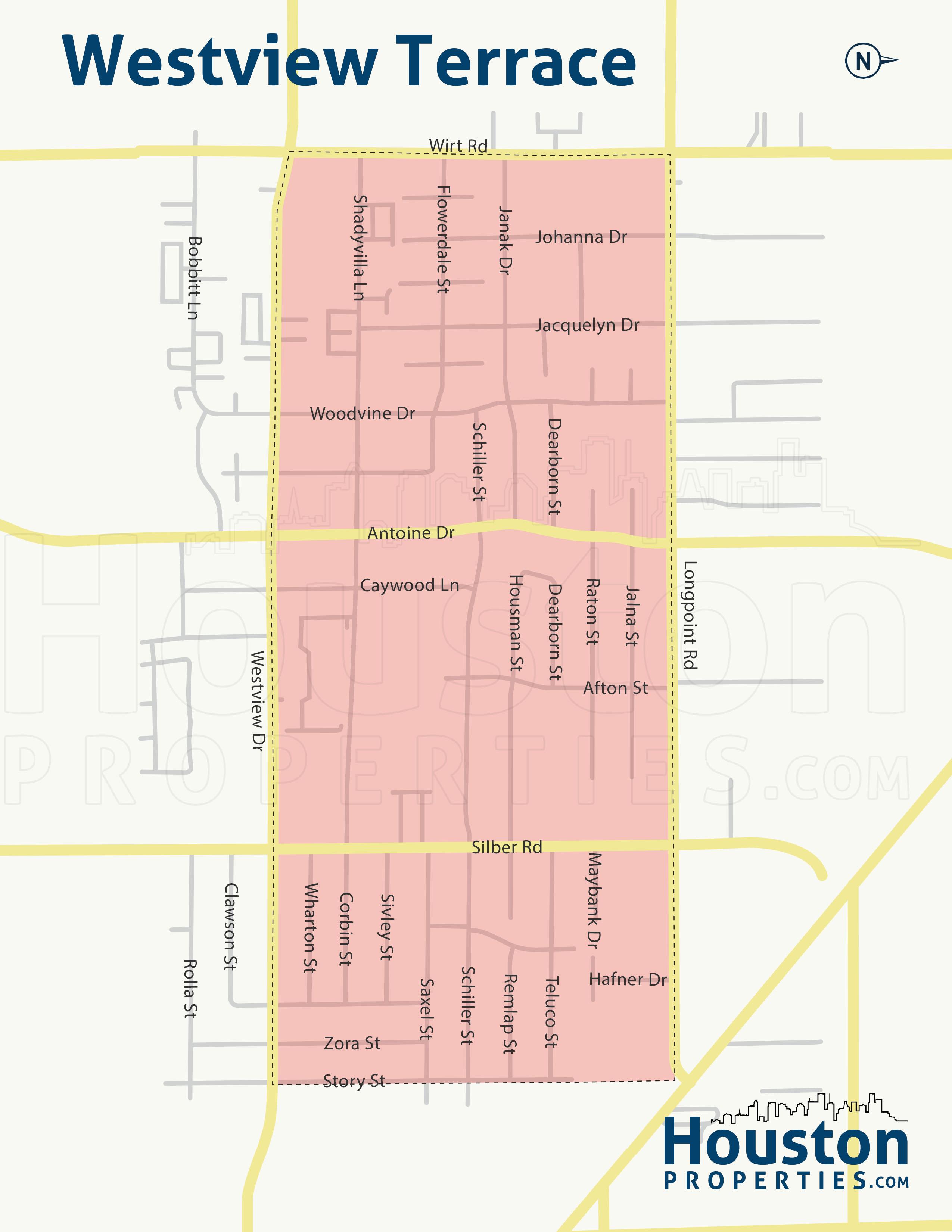 Westview Terrace neighborhood map