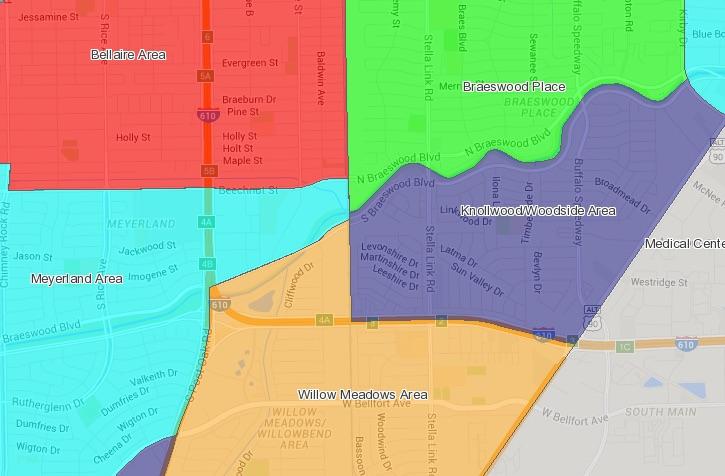 Woodshire Houston map
